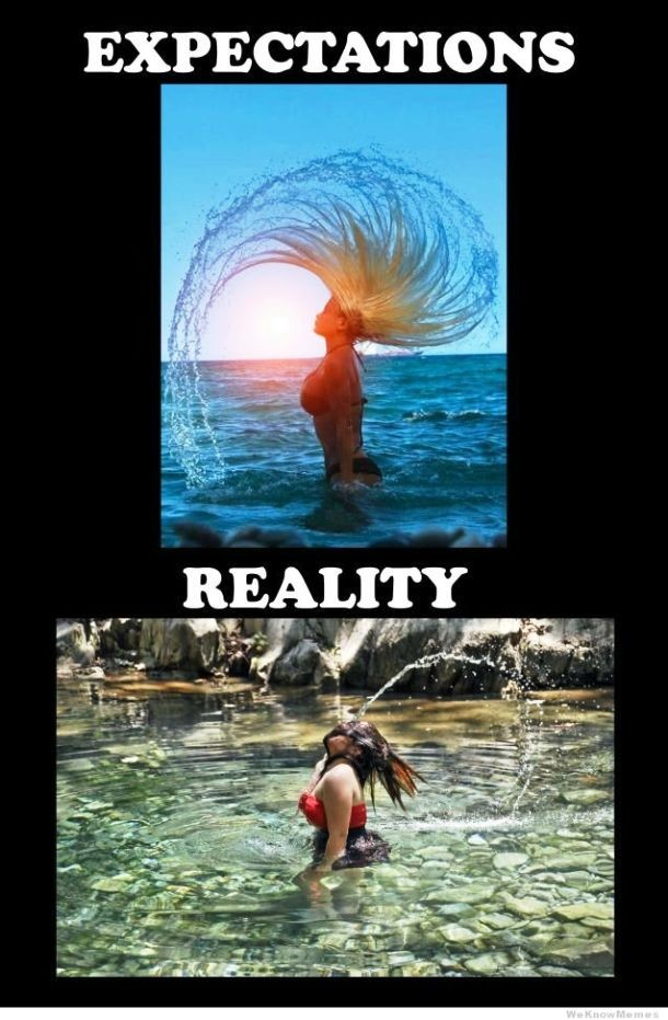 weknowmemes.com hairflip expectations vs reality 610x931 Extremely Funny Epic Fails from an Expectation V.S. Reality Perspective